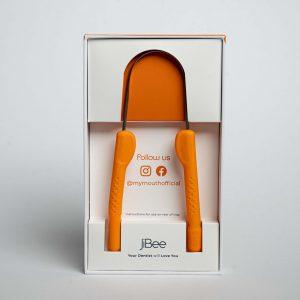 orange jibee tongue cleaner dental hygiene