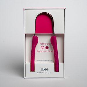 pink jibee tongue cleaner dental hygiene